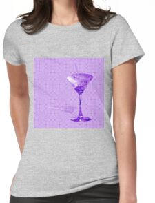 Purple cocktail on texture Womens Fitted T-Shirt
