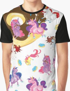 Fat unicorns and Donuts Graphic T-Shirt