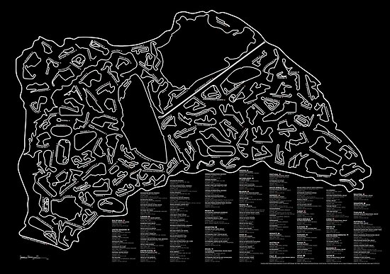Race Tracks to Scale (Inverted) by Matt Dunlop