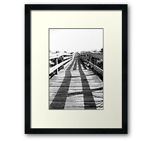Smyrna Dunes Boardwalk Framed Print