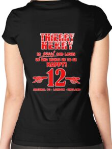 Thierry Henry Women's Fitted Scoop T-Shirt