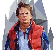 Marty McFly Polygons by Raphaël Duclos