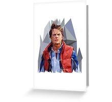 Marty McFly Polygons Greeting Card