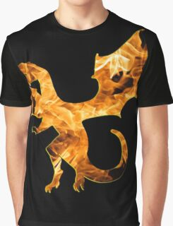 Flaming Dragon Graphic T-Shirt