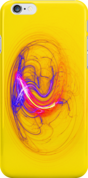 Abstract on Yellow iPhone Case by Dennis Melling