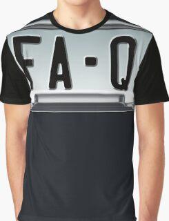 SHINY BLUE/GOLD LICENSE PLATE HOLDER FA-Q Graphic T-Shirt