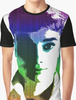 Audrey Hepburn White Shirt Portrait Multicolour  Graphic T-Shirt