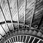Lighthouse Spiral black and white by khartist