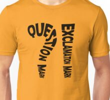 Question Mark Exclamation Mark Unisex T-Shirt