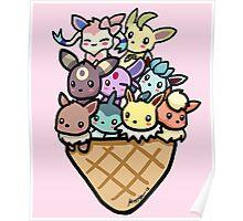 Eevee Ice Cream Poster