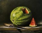 Watermelon, Cut by Dixie Rogers
