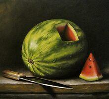 Watermelon, Cut by Dixie Rogers