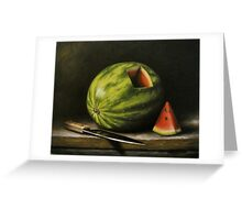 Watermelon, Cut Greeting Card