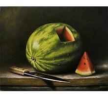 Watermelon, Cut Photographic Print