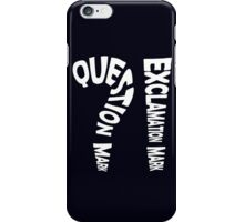 Question Mark Exclamation Mark (white design) iPhone Case/Skin