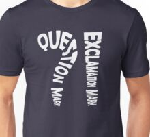 Question Mark Exclamation Mark (white design) Unisex T-Shirt