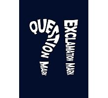 Question Mark Exclamation Mark (white design) Photographic Print