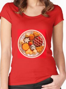 Christmas Cookies Women's Fitted Scoop T-Shirt