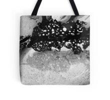 Sea-through black and white Tote Bag