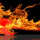 guitar fire by david balber