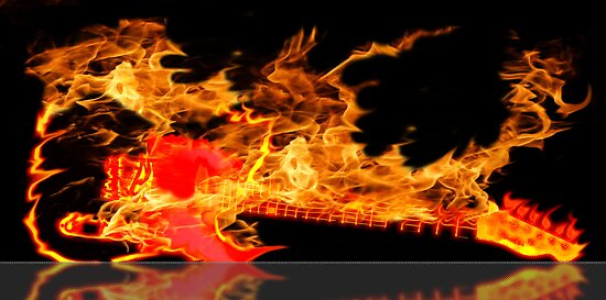 guitar fire by tinncity