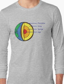 The Earth is a Cake. Long Sleeve T-Shirt
