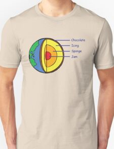 The Earth is a Cake. Unisex T-Shirt