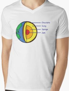 The Earth is a Cake. Mens V-Neck T-Shirt