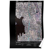 USGS Topo Map Washington State WA Kirkland 20110504 TM Inverted Poster