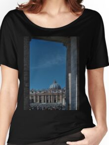 View Of St Peter's  Women's Relaxed Fit T-Shirt
