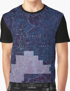 USGS Topo Map Oregon Groundhog Mountain 280110 1997 24000 Inverted Graphic T-Shirt