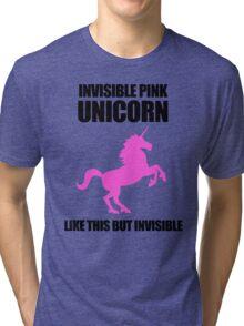Invisible Pink Unicorn Tri-blend T-Shirt