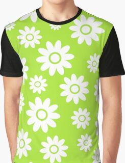 Lime Green Fun daisy style flower pattern Graphic T-Shirt