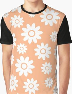 Peach Fun daisy style flower pattern Graphic T-Shirt