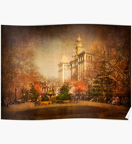 New York in Watercolour Poster