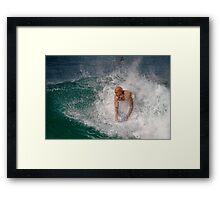 Bodysurfing Point Panic 2 Framed Print