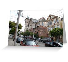 San Franciso Street and Church View Greeting Card
