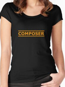 Orange Composer Women's Fitted Scoop T-Shirt