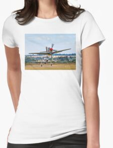 Sharkmouth Mustang Airborne Womens Fitted T-Shirt