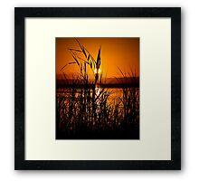 Glowing Hot. Framed Print