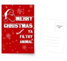 Funny Merry Christmas Filthy Animal Postcards