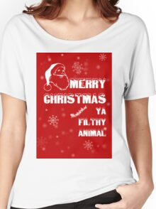Funny Merry Christmas Filthy Animal Women's Relaxed Fit T-Shirt