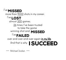 missed, missed, lost, SUCCESS - Michael Jordan by Razvan Dragomirica