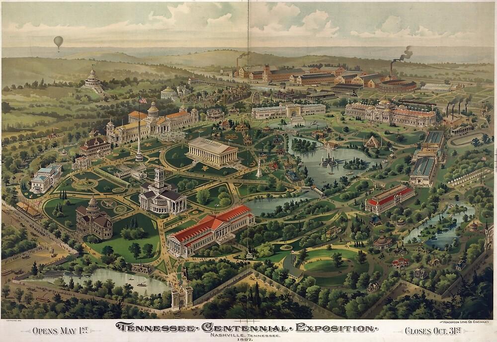 QuotVintage Nashville Centennial Park Map 1897quot By
