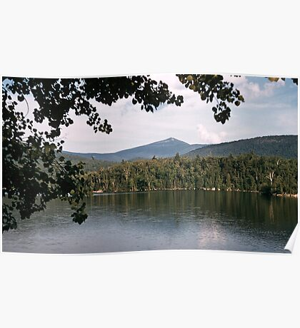 Whiteface Mountain across lake Saranac NY 19570713 0020 Poster
