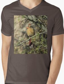 Female Cardinal in a Tree Mens V-Neck T-Shirt