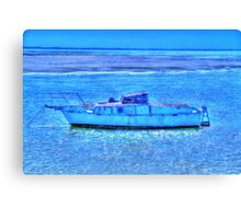 old boat at rest Canvas Print