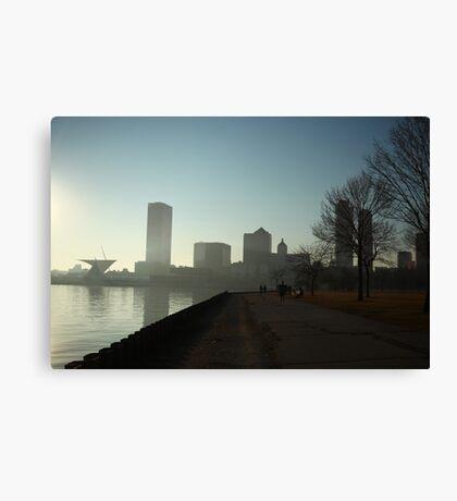 Milwaukee a city with a Harbor Canvas Print