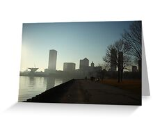 Milwaukee a city with a Harbor Greeting Card