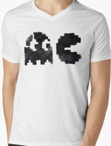 Pac Man Mens V-Neck T-Shirt